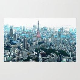 My Love - Tokyo Tower Skyline Rug