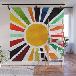 Sun Retro Art Wall Mural