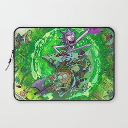Rick & M - Dungeons and Dragons Comic Collage Portal Comic Book Art Laptop Sleeve