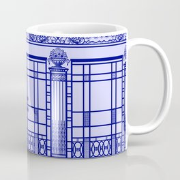 ART DECO, ART NOUVEAU IRONWORK: French Blue Coffee Mug