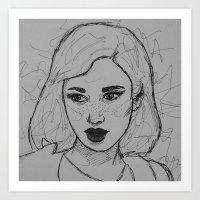 Femme fatale II Art Print