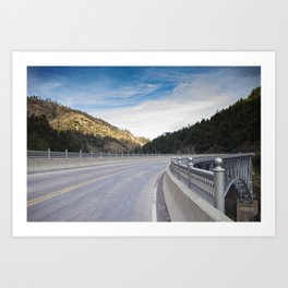 Pulga Bridge over the Feather River, HWY 70, Northern California Art Print