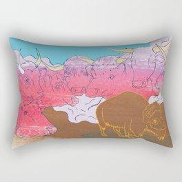 WHERE THE BUFFALO ROAM? Rectangular Pillow
