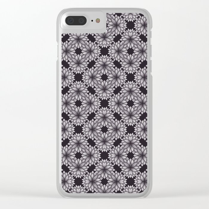 Floral Kaleidoscope #2 Clear iPhone Case