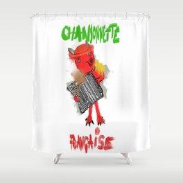 chansonnette francaise Shower Curtain