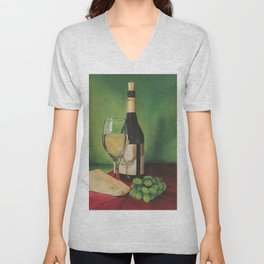 White wine, Still life Unisex V-Neck