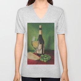 White wine, Still life Unisex V-Neck