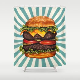 Cheeseburger - Double Shower Curtain