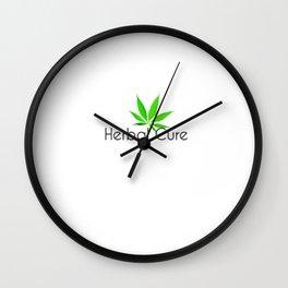 Herbal Cure - Marijuana (White) Wall Clock