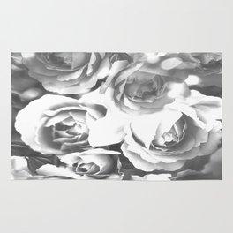 Roses In Black And White #decor #society6 #buyart #homedecor Rug