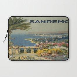 Vintage poster - Sanremo, Italy Laptop Sleeve