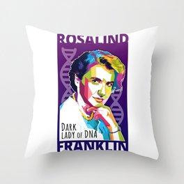 Rosalind Franklin Throw Pillow