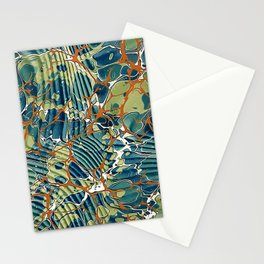Old Marbled Paper 05 Stationery Cards