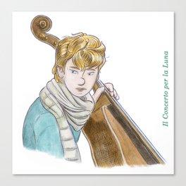 The Cello Player Canvas Print