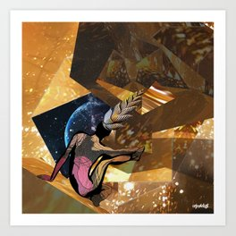 Deep Space Voyage 4 Art Print