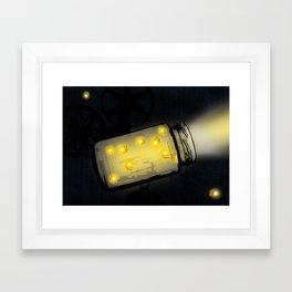 Movie Lightning Framed Art Print