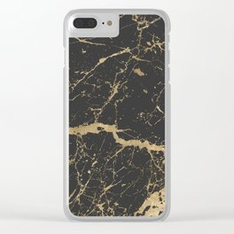 Marble Black Gold - Whistle Clear iPhone Case
