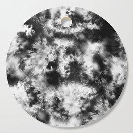 Black and White Tie Dye & Batik Cutting Board