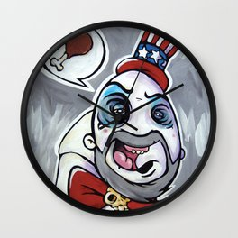 Howdy Folks, Capt Spaulding, Devils Rejects, House of 1,000 Courpses, Sid Haig Wall Clock