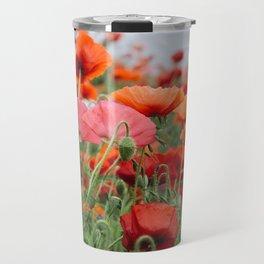 poppy field #society6 #decor #buyart Travel Mug
