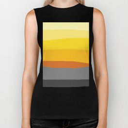Lemon Sunset Biker Tank