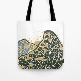 Geometric Mountain Tote Bag