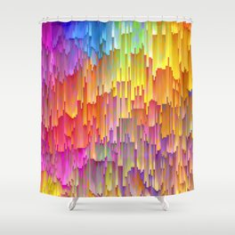 Vibrant Rainbow Cascade Design Shower Curtain