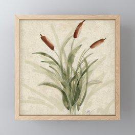 cattails 2 Framed Mini Art Print
