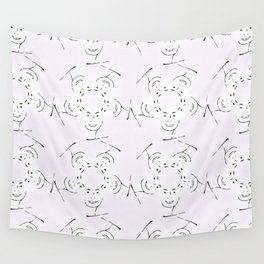 "series ""rostidade em mandala"" - lady Wall Tapestry"
