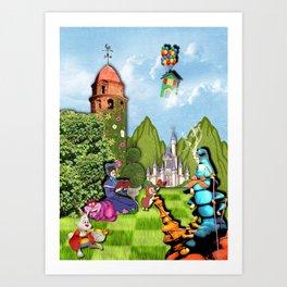 collioure vu par lewis carroll Art Print