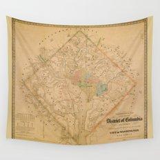 Civil War Washington D.C. Map Wall Tapestry