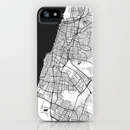 Tel Aviv Map Gray iPhone Case