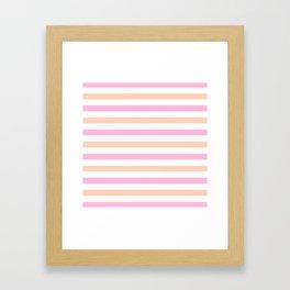 SHERBET STRIPES Framed Art Print