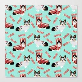 Corgi bacon costume dog breed corgis welsh corgi black and tan Canvas Print