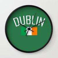 dublin Wall Clocks featuring Dublin by Earl of Grey