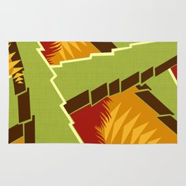 AGONDA Art Deco Modern: EARLY AUTUMN Rug