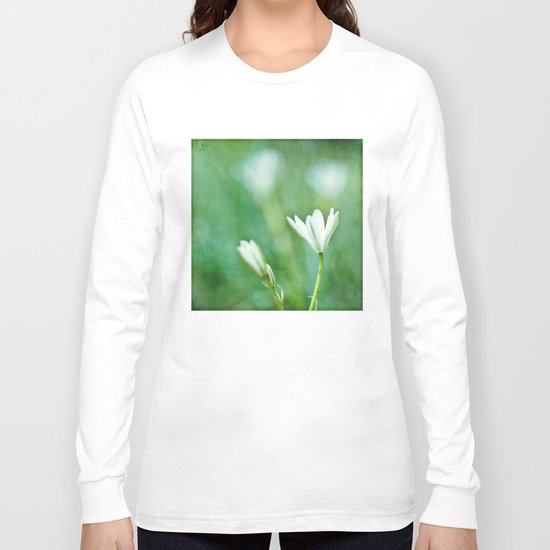 white flowers Long Sleeve T-shirt