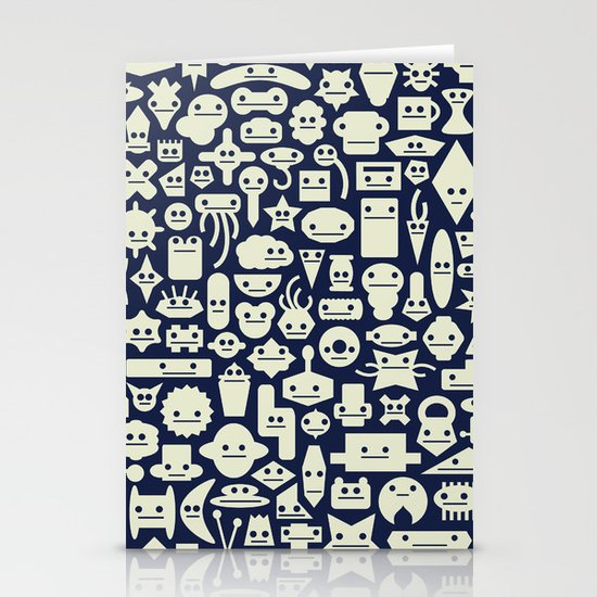 Shapes With Faces Stationery Cards
