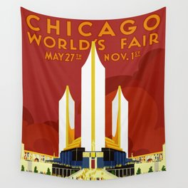 1933 Chicago World's Fair Wall Tapestry