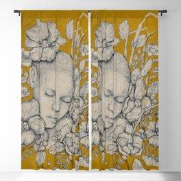 """""""Guardians"""" - Surreal Floral Portrait Illustration Blackout Curtain"""