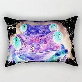 Negative red eyed tree frogs Rectangular Pillow
