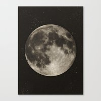 type Canvas Prints featuring The Moon  [Sans Type] by Heather Landis