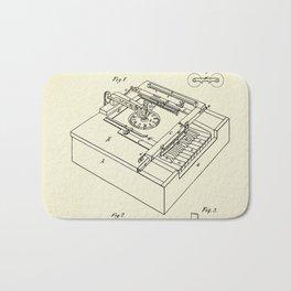 Type Writing Machine-1868 Bath Mat