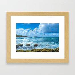 Ocean Blue San Juan Puerto Rico Framed Art Print