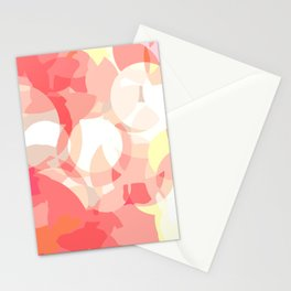 Broken Bubbles (Pink shades) Stationery Cards