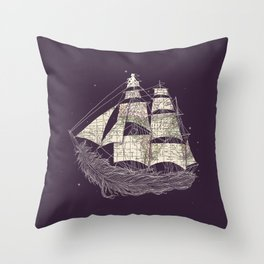 Wherever the wind blows Throw Pillow