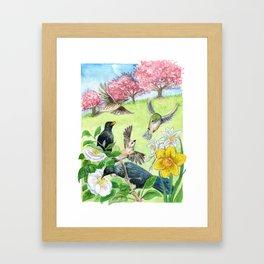 Spring in New Zealand Framed Art Print