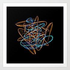 Silkweave / Neon Sigil 0 Art Print