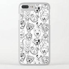 dogs of different breeds Clear iPhone Case