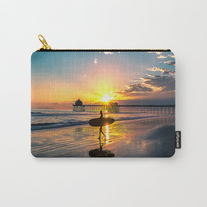 Surf City USA - Little Surfer Girl Carry-All Pouch